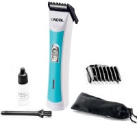 Nova Fasionable NHT 1064 Trimmer For Men (White, Turquise)