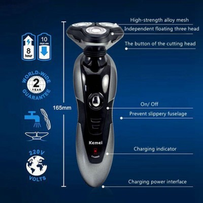 Kemei Professional 9006 Shaver For Men, Women (Black)