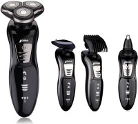Gixmo Electric Shaver SM29 Shaver, Trimmer, Grooming Kit, Ear, Nose & Eyebrow Trimmer For Men, Women (Black)
