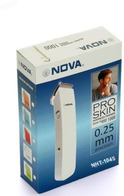Nova Crystal Design Cordless Nht 1045 W Trimmer For Men (White)