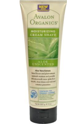 Avalon Organics Shaving Creams Avalon Organics Aloe Unscented Moisturizing Cream Shave