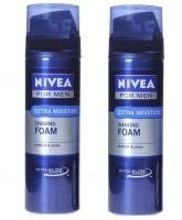 Nivea For Men Extra Moisture Shaving Foam Pack of 2 400 ml