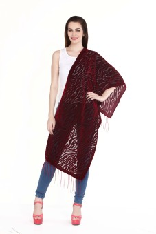 City Chic Polyester Self Design Women's Shawl - SWLEBGGKMPRCH3ZN