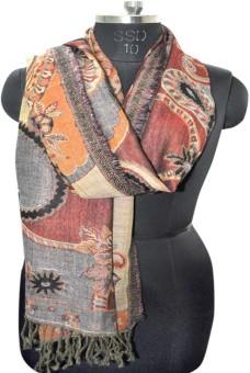 Elabore Wool Jamawar Shawl Wool Woven Women's Shawl