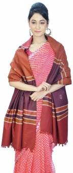 Indigocart Booti Design Cashmilon Warm Shawl 156 Wool Self Design Women's Shawl