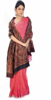 Indigocart Designer Big Paisley Reversible Shawl 154 Wool Self Design Women's Shawl