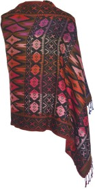 Wowdeal Wool Geometric Print Women's Shawl