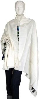 Indigocart Fashionable Pure Kashmiri Woolen Shawl 123 Wool Self Design Women's Shawl