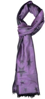 Elabore Fine Wool Star Design Shawl Wool Woven Women's Shawl