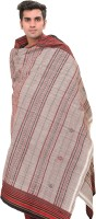 Exotic India Stripes Wool Woven Men's Shawl