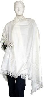 Indigocart Pure Kashmiri Warm Shawl 134 Wool Self Design Women's Shawl