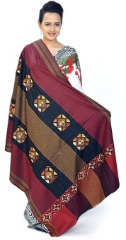 Home India Embroidered Pure Kashmiri Designer Pure Wool Shawl 196 Wool Self Design Women's Shawl