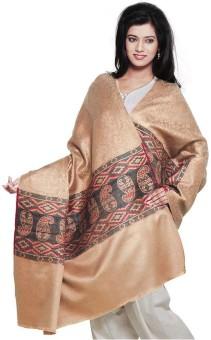 Indigocart Paisley Design Pure Kashmeeri Shawl 147 Wool Self Design Women's Shawl