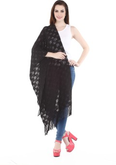 City Chic Polyester Self Design Women's Shawl