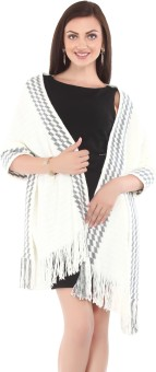 City Chic Polyester Self Design Women's Shawl - SWLEBGGJ8BRJRSTM