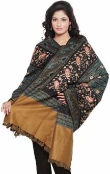Little India Paisley Design Cashmilon Shawl 159 Wool Self Design Women's Shawl