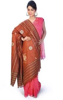 Home India Designer Stripes N Floral Pattern Kashmiri Shawl 206 Wool Self Design Women's Shawl