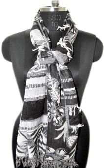 Elabore Wool Jacquard Shawl Wool Woven Women's Shawl