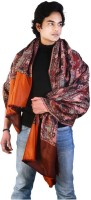 Home India Floral Design Pure 204 Wool Printed Men's Shawl