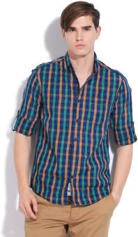 The Indian Garage Co. Men's Checkered Casual Shirt - SHTEFFFEEUAJYKR7