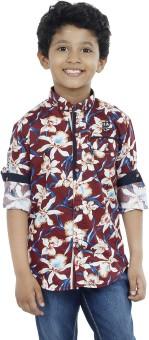OKS Boys Boy's Printed Casual Shirt