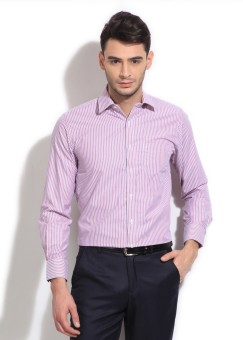 Peter England Men's Striped Formal Shirt