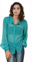 Hypernation Women's Solid Casual, Party Shirt