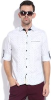 The Indian Garage Co. Men's Polka Print Casual Shirt