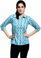 Peppermint Women's Floral Print Casual Shirt