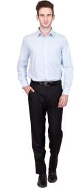 CoffeeBean Men's Solid Formal Light Blue Shirt