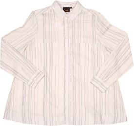 Orange Plum SH-14 Women's Striped Casual Shirt