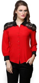 Desert Rose Laced Women's Solid Party Shirt