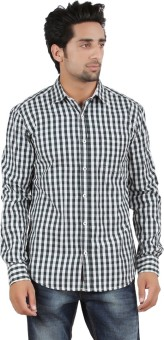 Orange And Orchid Men's Checkered Casual Shirt