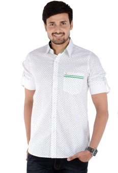 S9 Men Men's Self Design, Printed Casual, Party, Festive Shirt