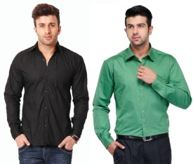 Rvc Fashion Men's Solid Casual Shirt