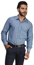atleee Boy's, Men's Striped Wedding, Casual, Party, Festive Reversible Blue Shirt