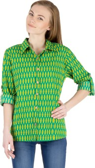 Famous By Payal Kapoor Women's Printed Casual Shirt