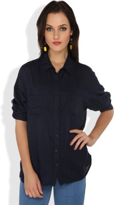 Ten On Ten Women's Solid Casual Shirt