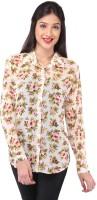 Purys Women's Polka Print Casual Shirt