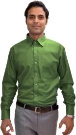 AVS Polo Men's Solid Formal Light Green Shirt