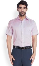 Park Avenue Men's Solid Formal Purple Shirt