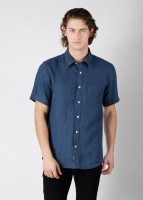 Burnt Umber Men's Solid Casual Shirt