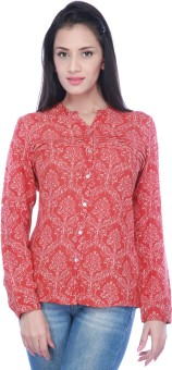 Haute Curry Charm Women's Printed Casual, Formal Shirt Women's Printed Casual, Formal Shirt
