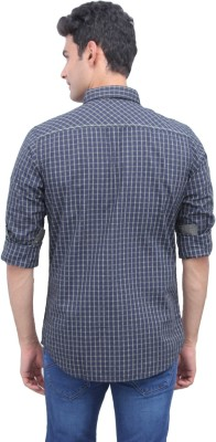 Urbantouch-Mens-Checkered-Casual-Green-Shirt