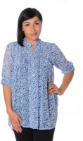 Urban Religion Women's Floral Print Casual Shirt