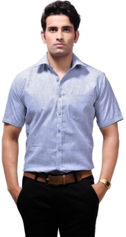 Zeal Cotton Blend Men's Solid Formal Shirt