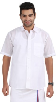 Prakasam Cotton Men's Solid Formal Shirt