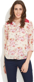 Ayaany Women's Floral Print Casual Shirt