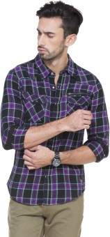 Zovi Men's Checkered Casual Shirt - SHTE8Z8A4HYU9N4V