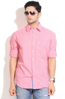 John Players Men's Checkered Casual Shirt: Shirt